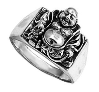925 Sterling Silver Buddha Ring   Size 7 Jewelry
