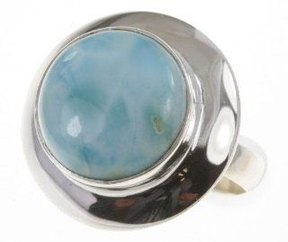 925 Sterling Silver LARIMAR Ring, Size 10, 6.21g Jewelry