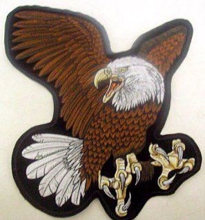 Large American Bald Eagle Motorcycle Vest Patch Biker