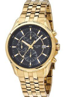 Accurist MB933B Mens Black Gold Chronograph Sports Watch Watches