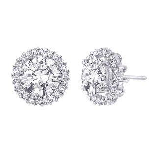 14K White Gold 1/2 ct. Diamond Earring Jackets Katarina Jewelry