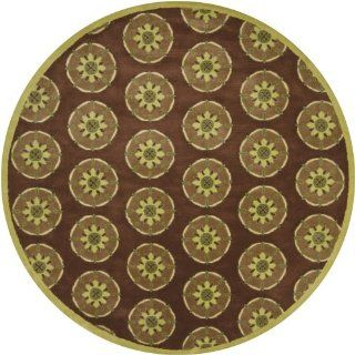 Dharma Collection Hand tufted Contemporary Rug (7'9 Round) by Chandra Rugs   Handmade Rugs