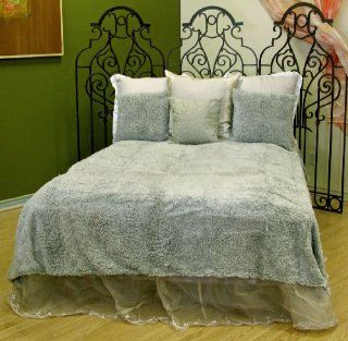 Ultra Soft Faux Fur Shag Bedspread Bedcover Bedding Blanket Sage Moss Green King  Other Products