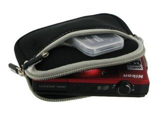 rooCASE Neoprene Sleeve (Black) Carrying Case for Canon PowerShot Digital Camera ELPH 110 HS 320 HS 520 HS  Camera & Photo