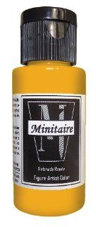 Badger Air Brush Company, 2 Ounce Bottle Minitaire Airbrush Ready, Water Based Acrylic Paint, Cracked Leather