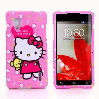 Snap on Hello Kitty hard skin cover case for LG Optimus G Sprint & Ting LG Optimus G / LG LS970 (Pink) Cell Phones & Accessories