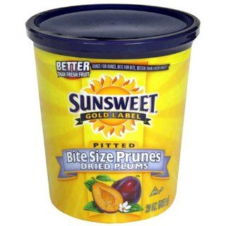Sunsweet Bite Size Prunes, Pitted, 20 Ounce Canister (Pack of 5)  Prunes Produce  Grocery & Gourmet Food
