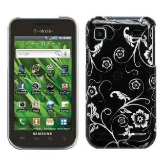 Cbus Wireless Black & White Flower Hard Case / Cover / Shell for Samsung Vibrant T959 / Galaxy S 4G T959V Cell Phones & Accessories
