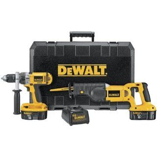DEWALT DC987CA 18 Volt Ni Cad Cordless 2 Tool Combo Kit   Power Tool Combo Packs
