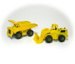 Vintage 1979 Hot Wheels Die Cast 1/64 Scale Caterpillar Dump Truck & CAT 988 Wheel Loader