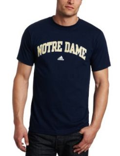 NCAA Men's Notre Dame Fighting Irish Relentless Tee Shirt (Navy, Small)  Sports Fan T Shirts  Clothing