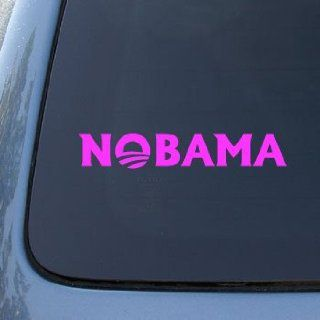 NOBAMA   BARACK OBAMA   Vinyl Car Decal Sticker #1671  Vinyl Color Pink Automotive