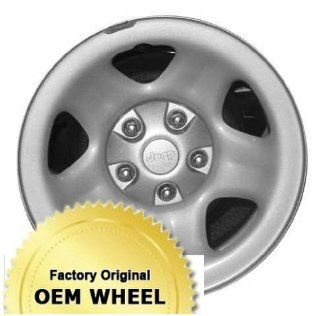 JEEP CHEROKEE,WRANGLER 15X7 5 SPOKE Factory Oem Wheel Rim  STEEL SILVER   Remanufactured Automotive