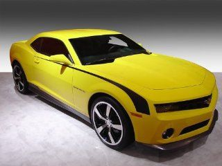 Hockey Stick Stripe Kit for 2010 2011 2012 2013 Chevrolet Camaro in GLOSS BLACK Automotive