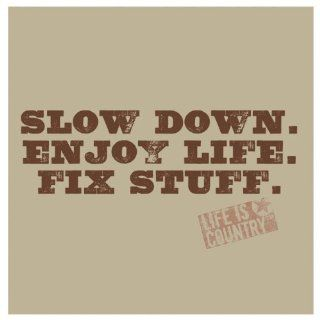 Stone Coaster Set Slow down. Enjoy life. Fix stuff. Kitchen & Dining