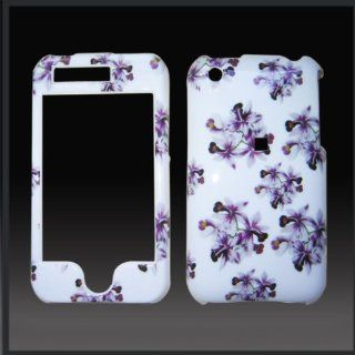 "Purple Flowers ""Design'd"" ABS Design case cover for Apple iPhone 3G & 3GS Cell Phones & Accessories"