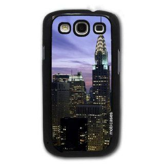 New York City Chrysler Building Evening Skyline   Protective Designer BLACK Case   Fits Samsung Galaxy S3 SIII i9300 Cell Phones & Accessories
