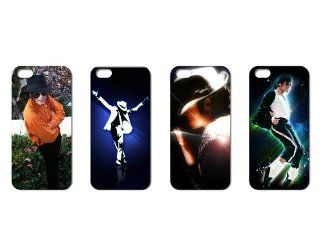 Wholesales 4pcs Super Pop Star Michael Jackson Mj Hard Back Case Cover Skin for Iphone 5 i5mj4007 Cell Phones & Accessories