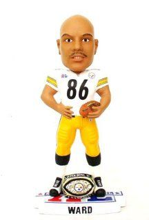 Hines Ward Pittsburgh Steelers NFL Super Bowl XL Championship Ring Bobble Head Figure  Sports Fan Bobble Head Toy Figures  Sports & Outdoors