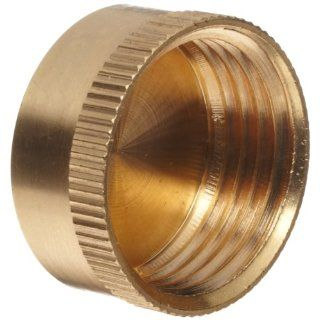 "Anderson Metals Brass Garden Hose Fitting, Cap, 3/4"" Female Hose ID Industrial Hose Fittings"