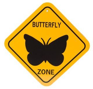 World Famous Sign 75240 Aluminum Butterfly Zone Sign (Discontinued by Manufacturer)  Yard Signs  Patio, Lawn & Garden
