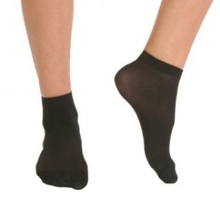 Angelina 40D Nylon Ankle Socks, 6 Pairs per Pack, Grey Color, #320GREY