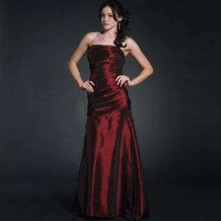 Strapless Red Ball Gown Prom Dress (70505) Wine