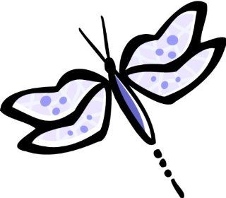 "4"" Dragonfly with purple wings. Engineer Grade reflective printed vinyl decal sticker for any smooth surface such as windows bumpers laptops or any smooth surface."