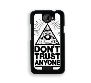 Quote   Don't Trust Anyone   Protective Designer BLACK Case   Fits HTC One X / One X+ Cell Phones & Accessories