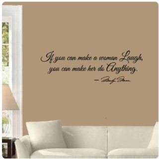 If you can make a woman laugh you can make her do anything by Marilyn Monroe Wall Decal Sticker Art Mural Home D�cor Quote   Wall Decor Stickers