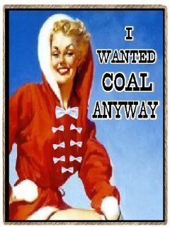 Christmas Gifts Refrigerator Magnets  I Wanted Coal Anyway Funny Retro Kitchen & Dining