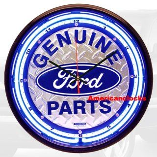 "NEON Light 16"" Floor Mat Ford Parts Neon Wall Clock/Bar Sign, Chevrolet, Coca Cola neon wall clocks also available Kitchen & Dining"
