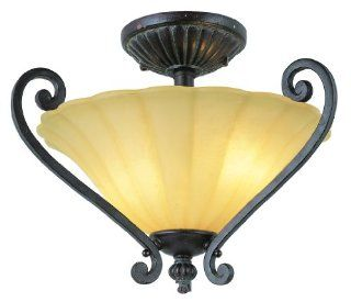 Trans Globe Lighting 7230 ABZ Antique Bronze Impressions of Rome Tuscan Two Light Down Lighting Semi Flush Ceiling Fixture from the Impressions of Rome Collection 7230   Semi Flush Mount Ceiling Light Fixtures