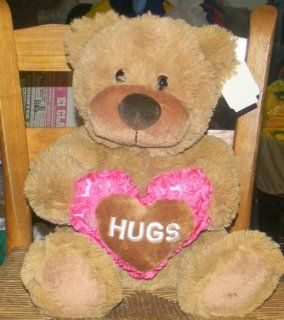 "APPROXIMATELY 18"" PLUSH STUFFED BROWN ROSE HEART TEDDY BEAR Toys & Games"