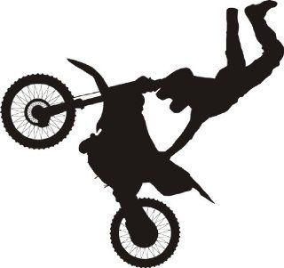 Dirtbike wall decal removable sticker racing motocross   Wall Decor Stickers