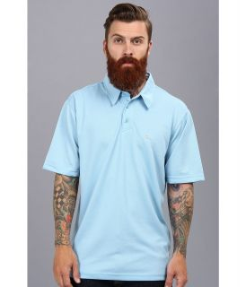 Quiksilver Waterman Water Polo 2 S/S Polo Shirt Mens Short Sleeve Pullover (Blue)