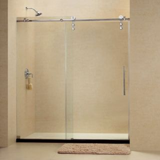 Dreamline SHDR626076008 Frameless Shower Door, 56 to 60 EnigmaZ Sliding, Clear 3/8 Glass Polished Stainless Steel