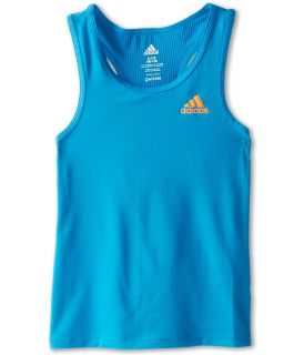 adidas Kids Perfect Rib Tank Girls Sleeveless (Blue)