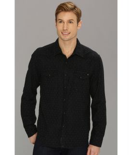 Lucky Brand Blackbomb Western Mens Long Sleeve Button Up (Black)