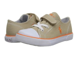 Polo Ralph Lauren Kids Carson EZ Boys Shoes (Khaki)