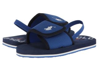 Polo Ralph Lauren Kids Ferry Slide Boys Shoes (Navy)