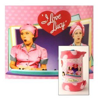 "I Love Lucy ""Chocolate Factory"" Fleece Blanket (Measures Approximately 50"" x 60"")   Throw Blankets"