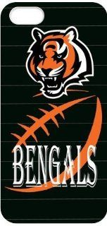 KroomCase NFL Cincinnati Bengals Logo Outstand Iphone 5 White Case Cover For Fathers Day Gifts Cell Phones & Accessories