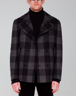 Michael Kors Plaid Pea Coat