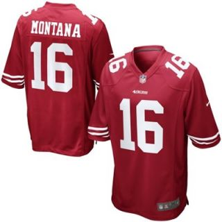Nike Joe Montana San Francisco 49ers Retired Player Jersey   Scarlet
