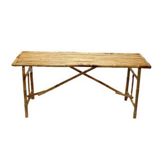 Bamboo 54 63 in x 20 in Rectangle Wood Folding Table