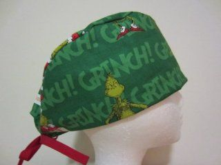 Mens Scrub Cap, Surgical Hat, Grinch Christmas  Other Products