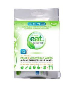 Vegetable Wipes, Grab N' Go Fruit, 10 per Pack. This multi pack contains 3 packs. Health & Personal Care