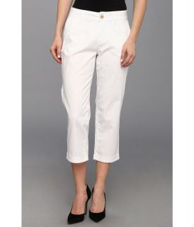 Jag Jeans Petite Cora Slim Crop in White Womens Jeans (White)