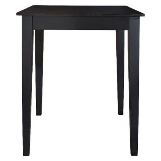 Dining Table Crosley Tapered Leg Pub Table   Black